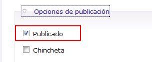 No publicar un tema